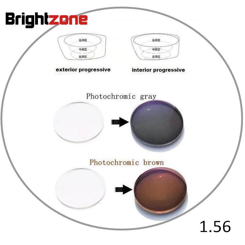 1 56 Interior Progressive Photochromic Non line HC UV Protection CR 39 resin prescription lenses one