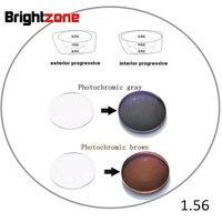 1.56 İç Aşamalı Fotokromik Olmayan hat HC UV Koruma CR-39 reçine reçete lensler tek lens yakın görmek ve mesafe