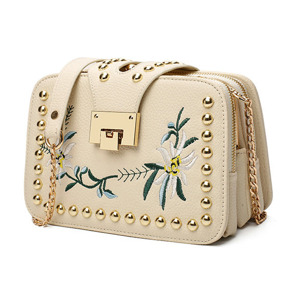 2e6e476206bf 2016 Autumn National Vintage Embroidery Shoulder Bag Women Floral Bee  Embroidered Handbags Ladies Small Lock