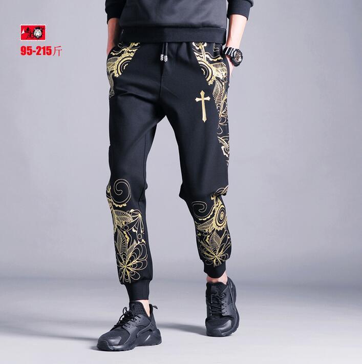 Pantalones Casuales Más Tamaño Moda blanco Harem amarillo 2019 Ropa rojo La Llegada De Personalizado Los Verano Hombres Negro Oro Negro Nueva Hombre SEwPYq