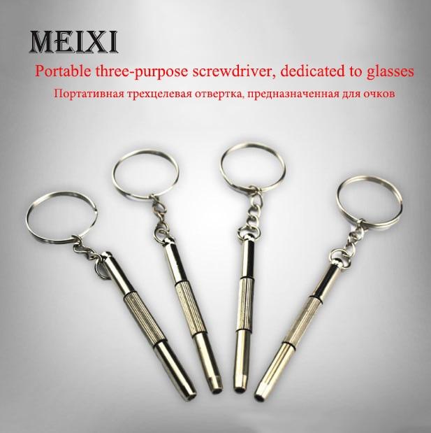 Three-use Glasses Screwdriver Multi-function Screwdriver S-class Three Small Screwdrivers Glasses Accessories