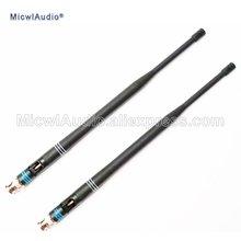 2 шт 638 698 МГц микрофон bnc разъем байонетные антенны для