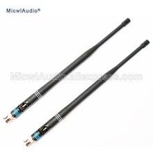 2 adet 638 698MHZ mikrofon BNC konnektörü süngü antenler için Shure kablosuz mikrofon sistemi MicwlAudio çifti