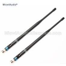2 sztuk 638 698MHZ mikrofon złącze BNC anteny bagnetowe dla Shure bezprzewodowy System mikrofonowy MicwlAudio z parą