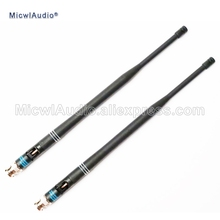 2Pcs 638 698MHZไมโครโฟนBNC Connector BayonetเสาอากาศสำหรับShure WirelessไมโครโฟนระบบMicwlAudioพร้อมคู่