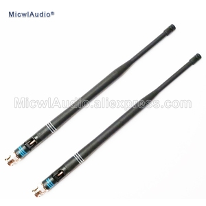 Image 1 - 2pcs 638 698mhz microfone bnc conector baioneta antenas para shure sistema de microfone sem fio micwlaudio com par
