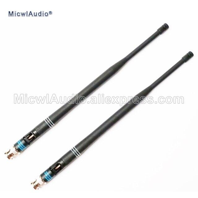 2pcs 638 698mhz microfone bnc conector baioneta antenas para shure sistema de microfone sem fio micwlaudio com par