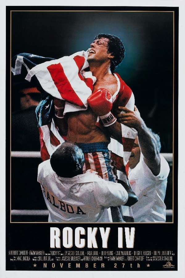Canvas Poster Silk Fabric 1985 American Sylvester Stallone Sports Film Rocky Balboa IV Movie Poster And Print For