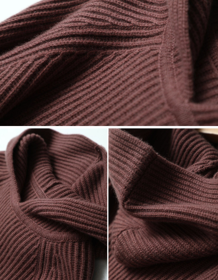 100% Pure Cashmere Hooded Sweater Women Pullover Autumn Winter Knitwear Ladies Thick Warm Loose Womens Jumpers 18 12