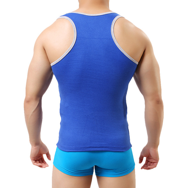 Czzlolo Men's Cotton Vest Undershirt Singlet Underwear Gilet Bodybuilding Fitness Sleeveless Tank Vest Comfortable Underwear