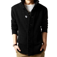 Brand Clothing Men S Winter Hoodies 2017 New Men Knitted Open Stitch Cardigan Slim Fit Casual