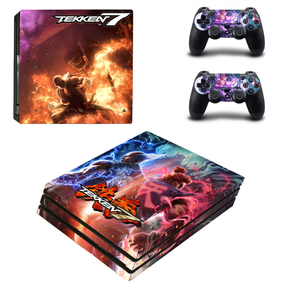 Game Tekken 7 PS4 Pro Skin Sticker Decal for Sony PlayStation 4 Console and 2 Controller Skin PS4 Pro Skin Sticker Vinyl