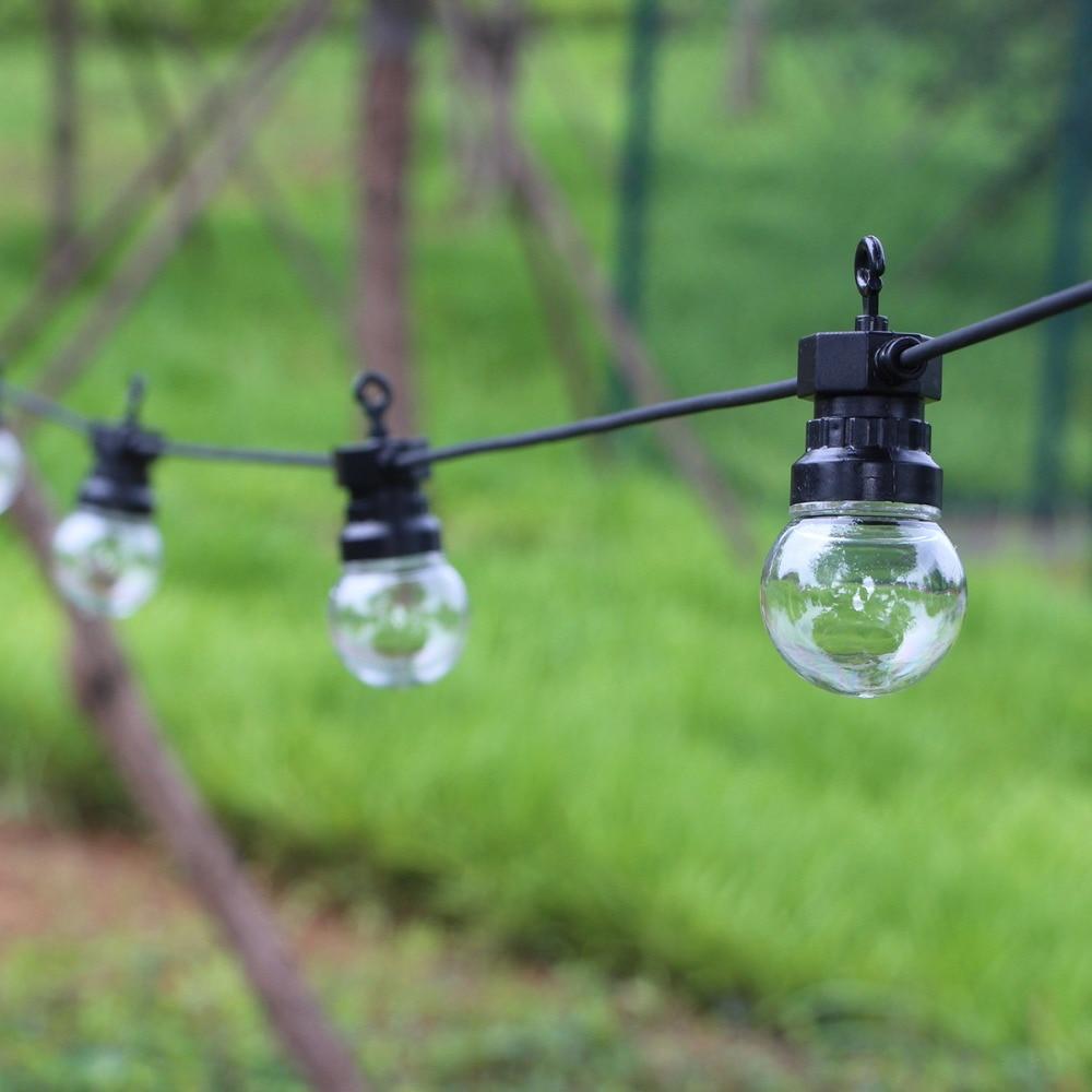 Outdoor Hanging String Lights Led: 8m 13m G50 LED Globe Festoon String Light Outdoor Garland