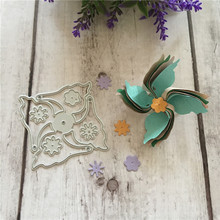 Die Cut Metal Dies 3d Windmill Flower Spinner Diy Scrapbook Card Pincer Fan Party Embossing Folder Template Stencils