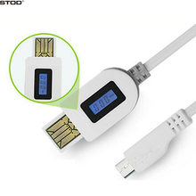 BTOD Micro USB Cable LCD Digital Display Current Voltage Charging Time For Samsung Huawei ZTE Nexus