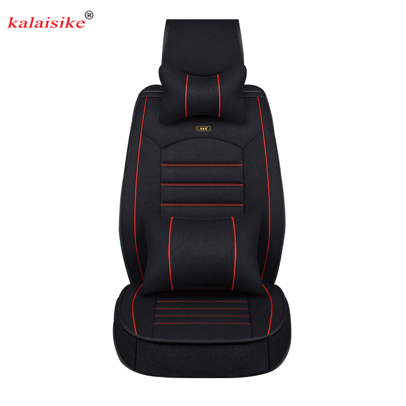 Kalaisike Flax Universal Car Seat covers for Volkswagen all models polo golf tiguan vw Passat jetta touareg Phaeton cc Passat