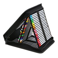 Multifunction Portable 120 Holes Large Capacity Oxford Cloth Pencil Bag Foldable Case Pen Storage Drawing Painting
