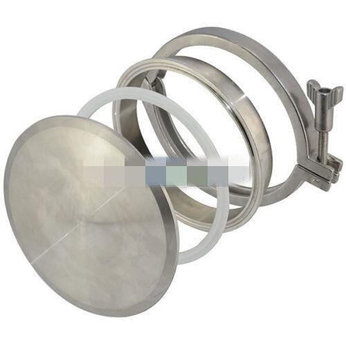 8 End Cap +8Weld on Ferrule +8Tri-clamp +8PTFE Gasket Sanitary SUS SS304 Set 8 0