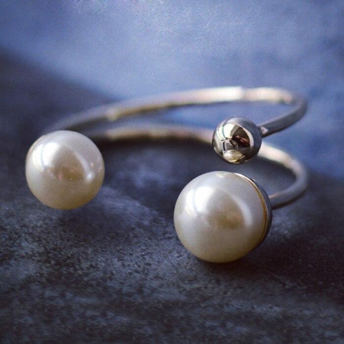 Luxe ouverture taille coquille perle femmes Bracelets Bracelets mode chaude couleur or trois pièces ensemble Bracelets marque bracelet - 5