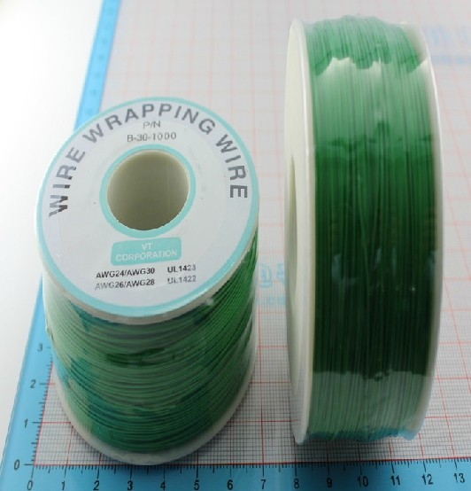 Free shipping 250M long green wire width high temperature wire and cable 0.5MM reparing plastic hardware high temperature resistant wire roll black 250m