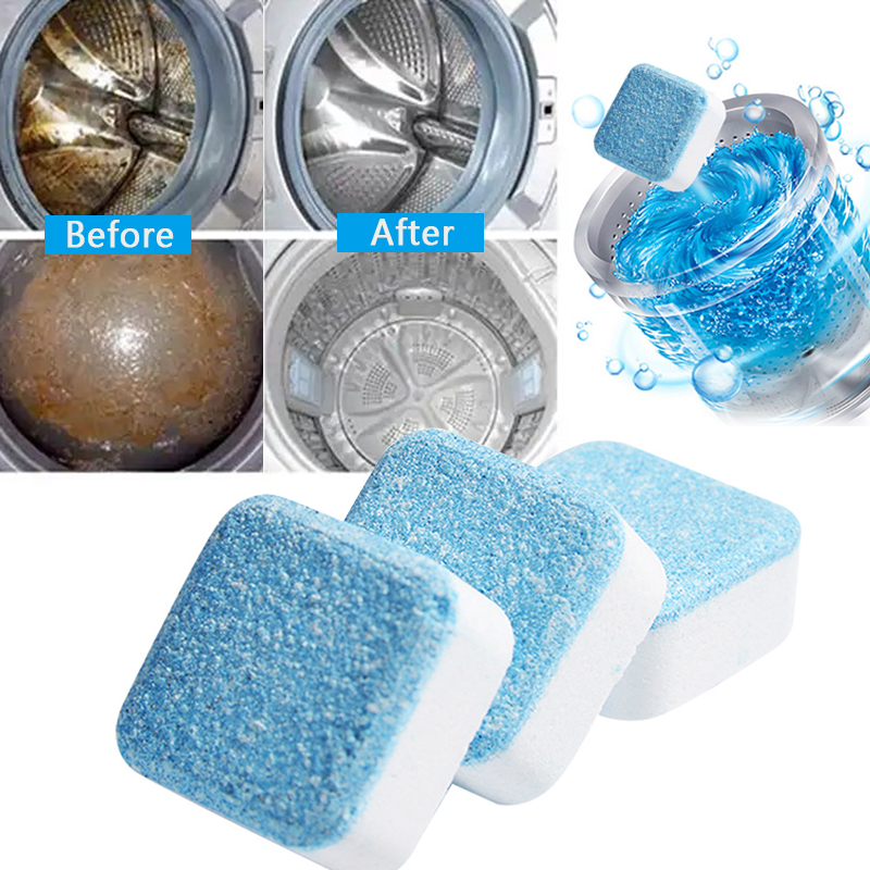 4 tablets Washing Machine Cleaner Washer Cleaning Detergent Effervescent Tablet Washer Cleaner Household Cleaning Chemicals 1