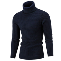 Свитера, пуловеры Для мужчин 2018 мужские брендовые Повседневное тонкий Для мужчин полосатый свитер вязаный свитер водолазка Для мужчин свит...