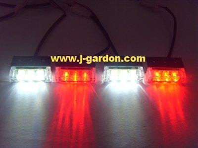car light source New 4x 3 LED Emergency Truck Strobe Red/White Light styling Bar - j_gardon store