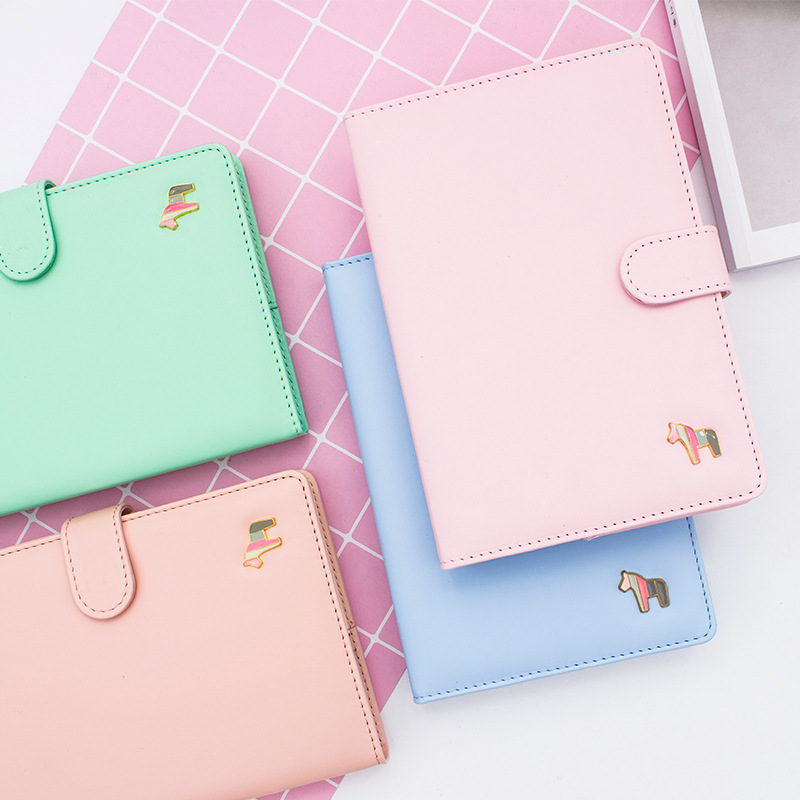 Macaron Cute Spiral Notebooks Stationery Office School Personal Agenda 2019 Organizer Diary Weekly Planner Gift A6