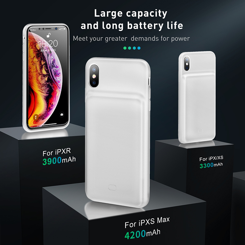Image 2 - Baseus 3300mAh Power Bank Case Charging For iPhone X/XS XR XS Max Battery Case Charger Case Power Bank Charger Case Mobile Phone-in Battery Charger Cases from Cellphones & Telecommunications