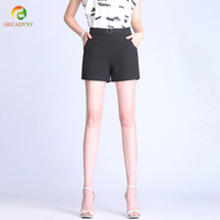 Summer Woman   Shorts   Plus Size S-3XL New Fashion Design Lady Casual   Shorts   Solid Color Girls Slim   Shorts   With Lining