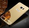 Мода Металл Зеркало Чехол для Samsung Galaxy S3 S4 S5 S6 S7 Edge Плюс A3 A5 A7 J5 J7 2016 Примечание 3 4 5 7 Защитная Крышка