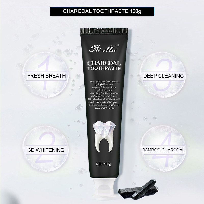 Bamboo Charcoal Toothpaste Toothpaste Oral Hygiene Clareador Dental 100g