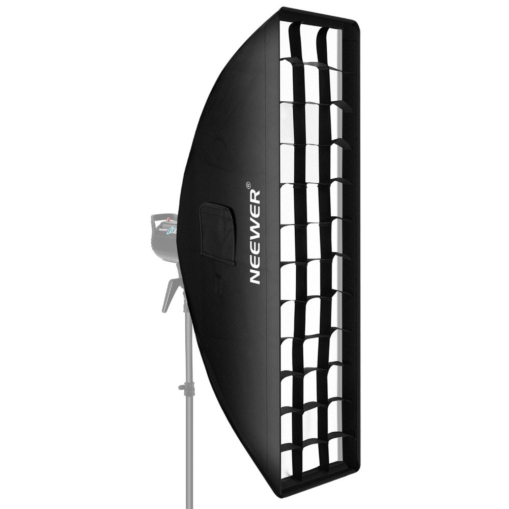 цена на Neewer 14 x 63 inches/35 x 160 centimeters Honeycomb Grid Softbox with Bowens Mount Speedring for Speedlite Studio Flash Monolig
