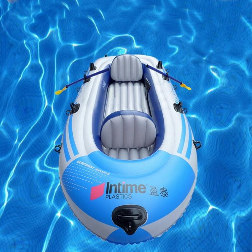 Outdoor water sports inflatable kayak upgrade 4 people inflated inflatable boat kayak bike pvc inflatable boat fishing boat for water sports inflatable toys outdoor drifting boat in stock