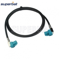 HSD Cable Assembly Z Coding Right Angle Female Jack To Z Coding Right Angle Jack Dacar