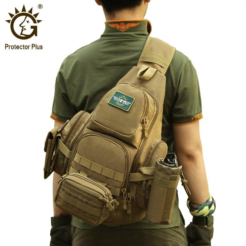 Protector Plus 20-35L Tactical Sling Bag, 14 Laptop Waterproof Molle Military Backpack, Camping Hiking Hunting Sport Bag