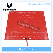 300*300*2.0 MK2A RepRap RAMPS 1.4 PCB Heatbed MK2A with led Resistor and cable for Mendel 3D printer hot bed diy XT0027-3D