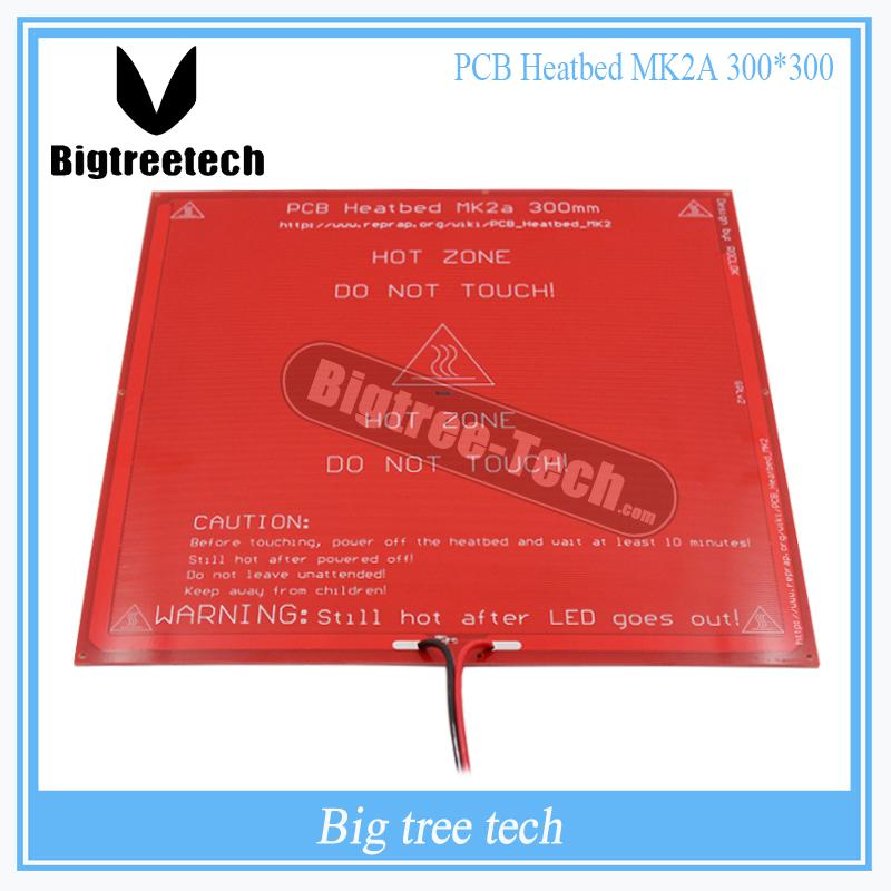 Prix pour DZ 300*300*2.0 MK2A RepRap RAMPES 1.4 PCB Heatbed MK2A avec led résistance et câble pour imprimante Mendel 3D lit chaud diy XT0027-3D