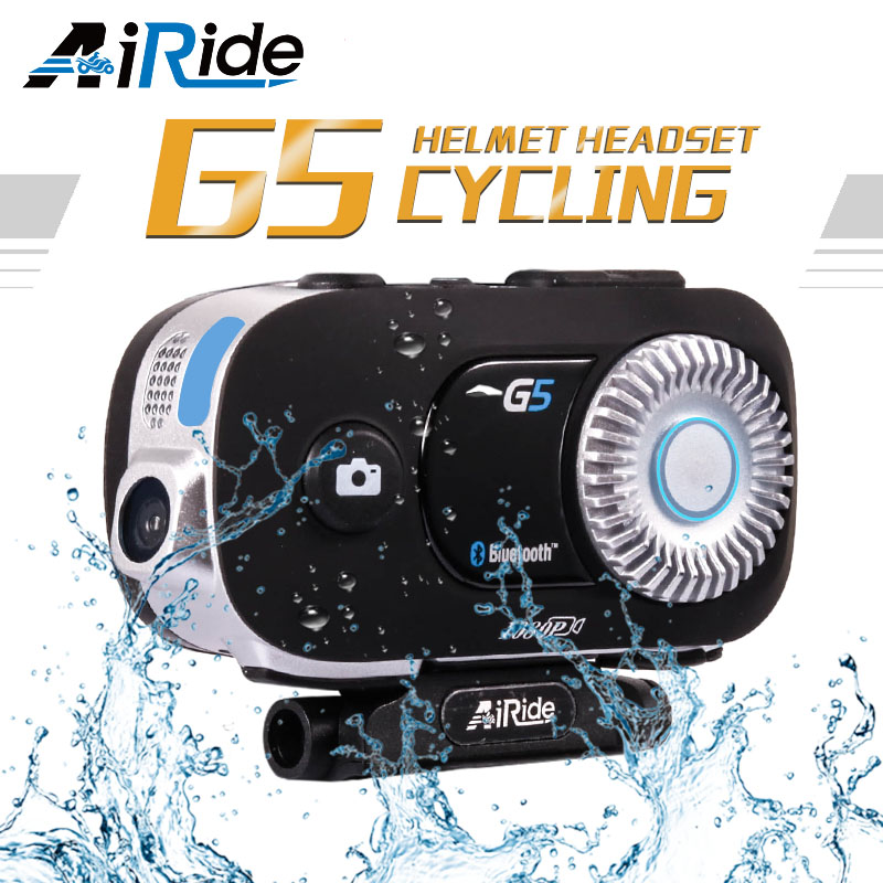 AiRide G5 500 m 4 coureurs interphone groupe HD 1080 P enregistreur vidéo caméra moto Bluetooth interphone casque casque