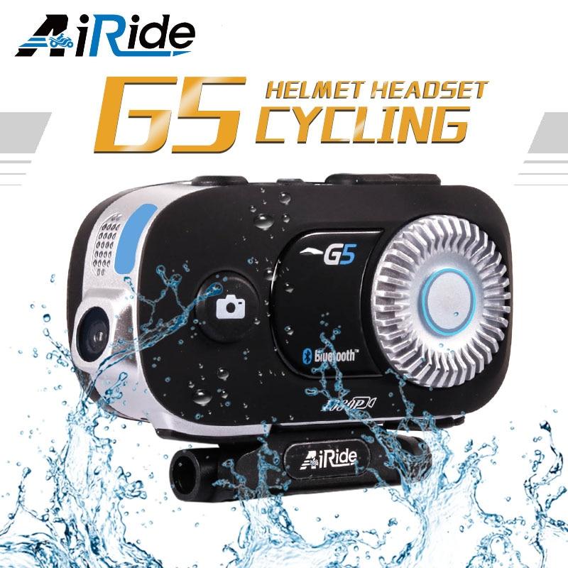 AiRide G5 500 m 4 coureurs interphone groupe HD 1080 P enregistreur vidéo caméra moto Bluetooth interphone casque casque