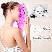 Led Beauty Mask Instrument Photon Rejuvenation Acne Home Whitening Spot Infrared Led with Neck Mask For Sale