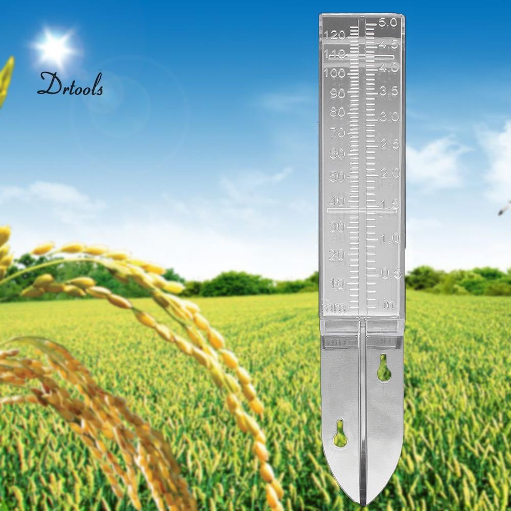 """Садовые инструменты для дома и сада, измеритель дождевой воды, заостренный пластик, измерение дождевой воды, двойная шкала 120 мл 5"""""""