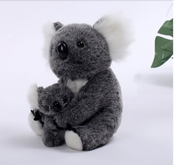 lovely plush gray koala toy new koala mother&baby doll birthday gift about 30cm 2794 6pcs plants vs zombies plush toys 30cm plush game toy for children birthday gift