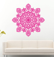 FREE SHIPPING PVC material Yoga Mandala ornament vinyl wall stickers mural art religion decals home decor Y-7