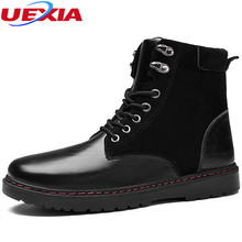 Fashion PU&Suede Leather Men Shoes Popular Fshion Ankle Boots Men Chukka Boots  Safety  Sewing Warm Winter Boots Handmade Short