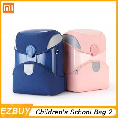 Xiaomi Youpin 3 carga 2 mochila de estudante Saco de Escola das Crianças material reflexivo 3M linha noite saco das crianças Inteligentes