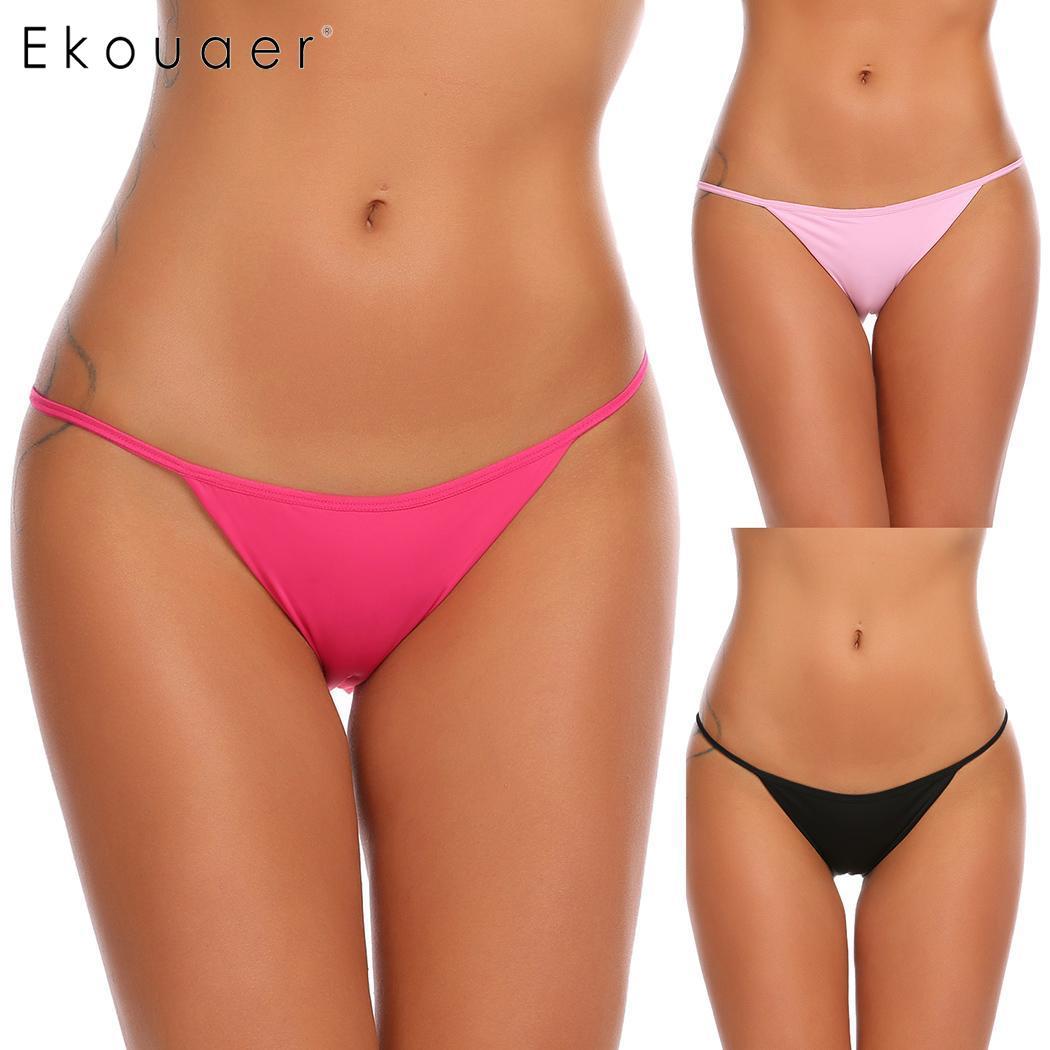 Ekouaer Women One String Panties Bikini Panty 1 Qty Cotton Blend