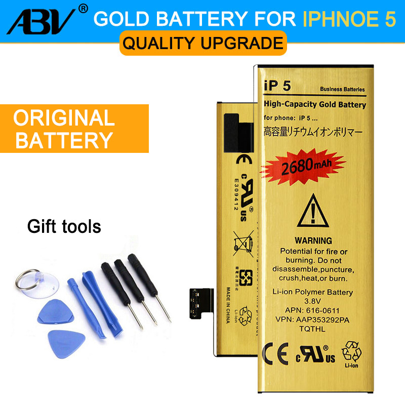 ABV Replacement-Battery Gold IPhone Original Apple High-Capacity Li-Ion For With 8-In-1