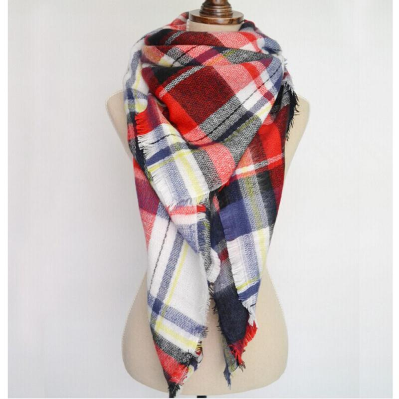 Fashion Autumn Winter Blanket font b Tartan b font Scarf for Women Wrap Shawl Plaid Cozy