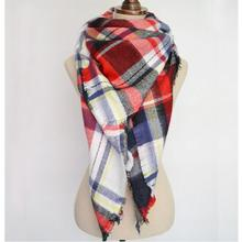 Fashion Autumn Winter Blanket Tartan Scarf for Women Wrap Shawl Plaid Cozy Checked Pashmina Accessories